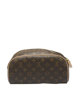 Louis Vuitton Cosmetic Coated Canvas Satchel in Brown