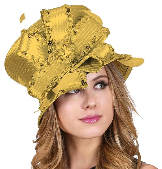 Preload https://img-static.tradesy.com/item/21209594/gold-formal-dressy-lined-floral-laced-lady-s-hat-0-1-540-540.jpg