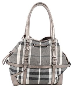 Burberry Canvas Tote in Grey
