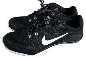 NIKE Sneakers black and white with fun laces Athletic