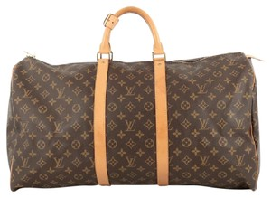Louis Vuitton Keepall Canvas Satchel