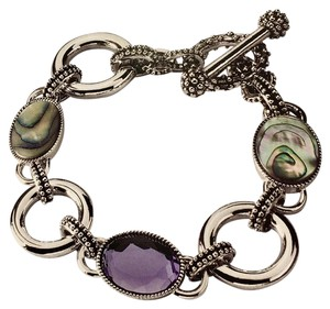 Lia Sophia Lia Sophia Epiphany Genuine Abalone and Cut Crystal Toggle Bracelet