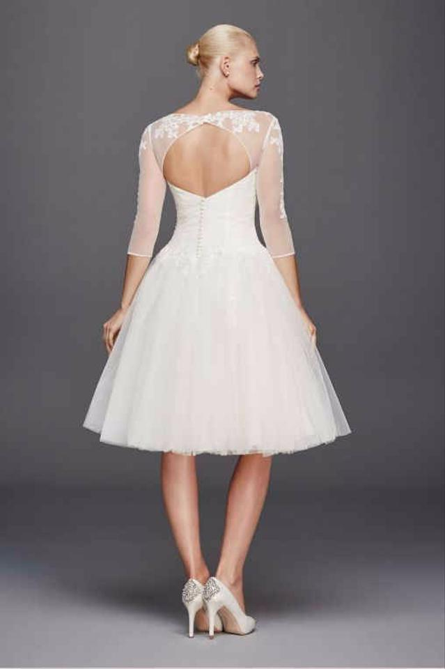 Zac posen truly 3 4 sleeve short wedding dress wedding for Zac posen wedding dresses sale