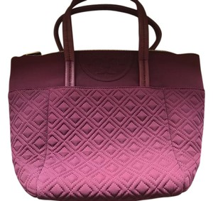 Tory Burch Fleming Quilted Tote in Burgundy