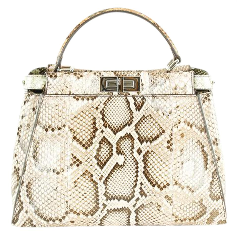 6a1cd54cd643 Fendi Women Bags Animal Print Patterned Python Satchel in Multi-Color Image  0 ...