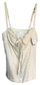 Rebecca Taylor Eyelet Matching Skirt Top Cream