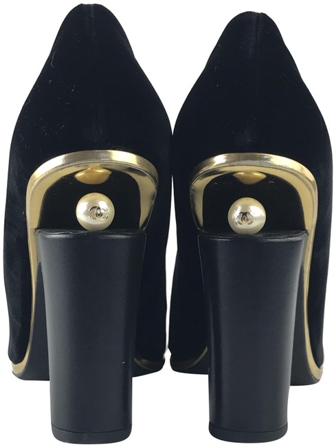 Item - Black Velvet Satin Pearl Formal Shoes Size EU 42 (Approx. US 12) Regular (M, B)