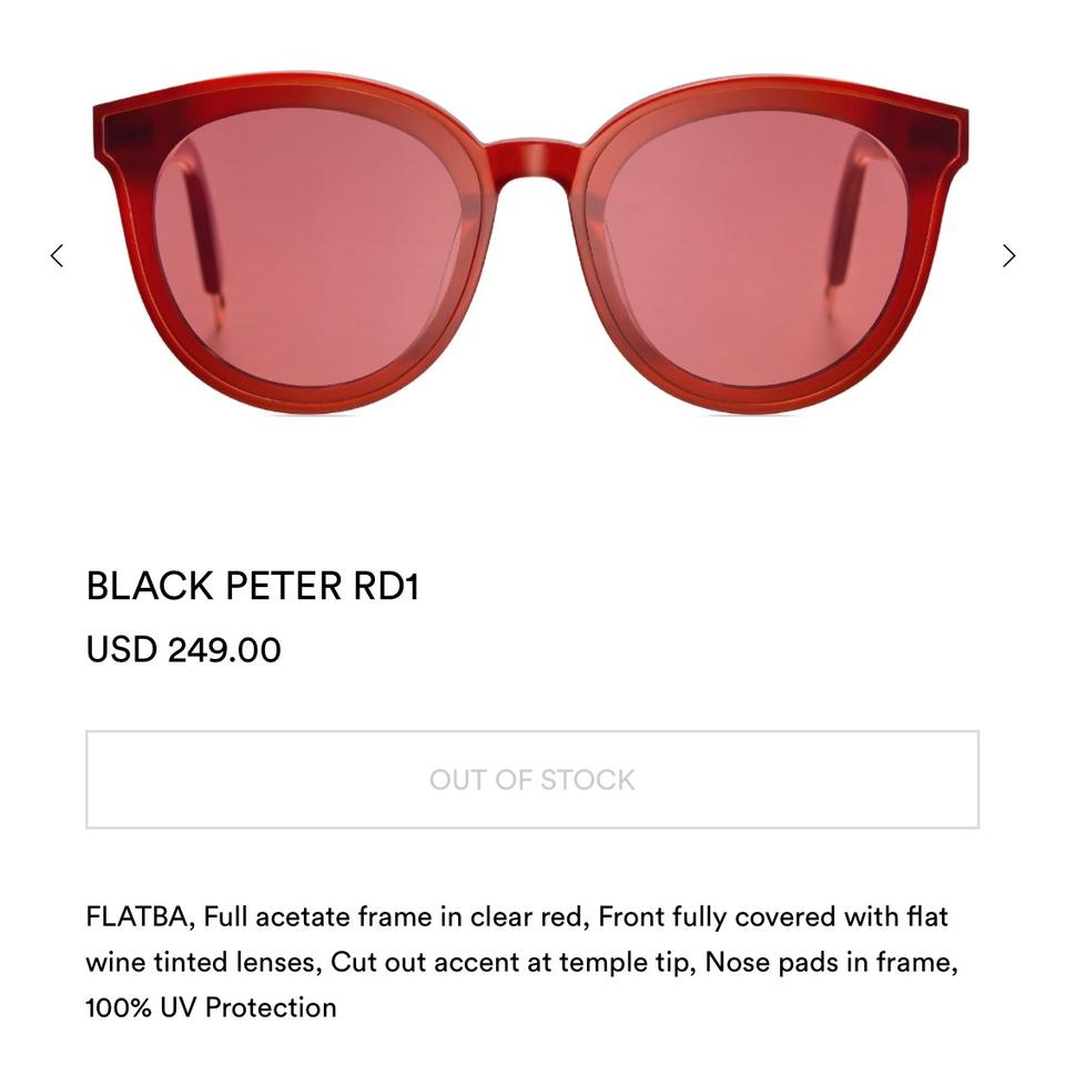 c6fbb1bd524 Gentle Monster Red Black Peter Sunglasses - Tradesy