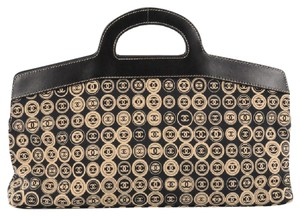 Chanel Canvas Satchel in Brown and Black