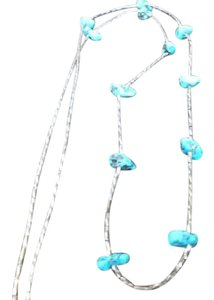 Other Ladies Necklace with Turquoise Color Stones Set On A Sterling Silver