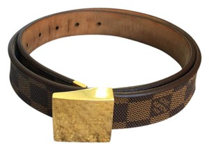Louis Vuitton Louis Vuitton Damier Ebene Canvas Womens Belt
