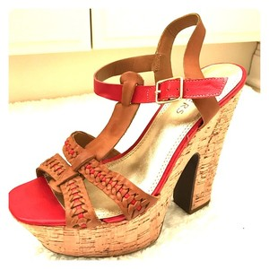 Bakers Brown and Red Platforms