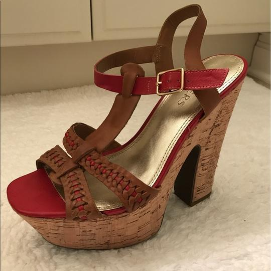 Bakers Brown and Red Platforms Image 1