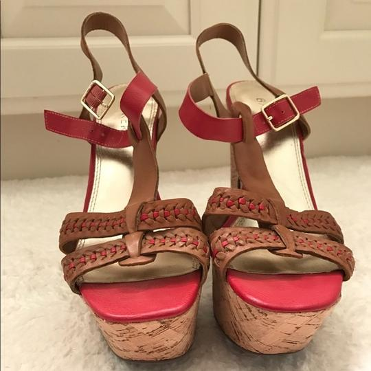 Bakers Brown and Red Platforms Image 2