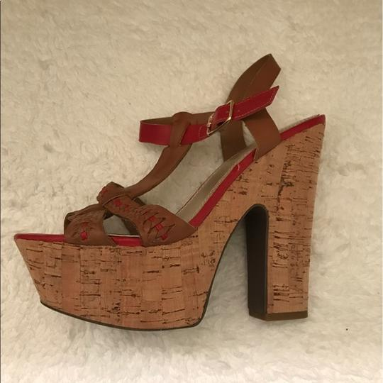 Bakers Brown and Red Platforms Image 3