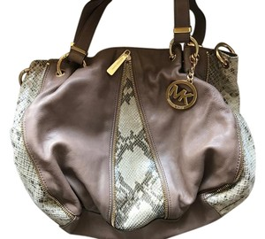 Michael Kors Snake Taupe Shoulder Bag