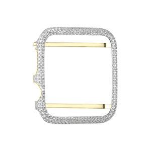 Other 14k Gold Finish Apple Watch Bezel Cubic Zirconia 38mm Custom Easy Fit