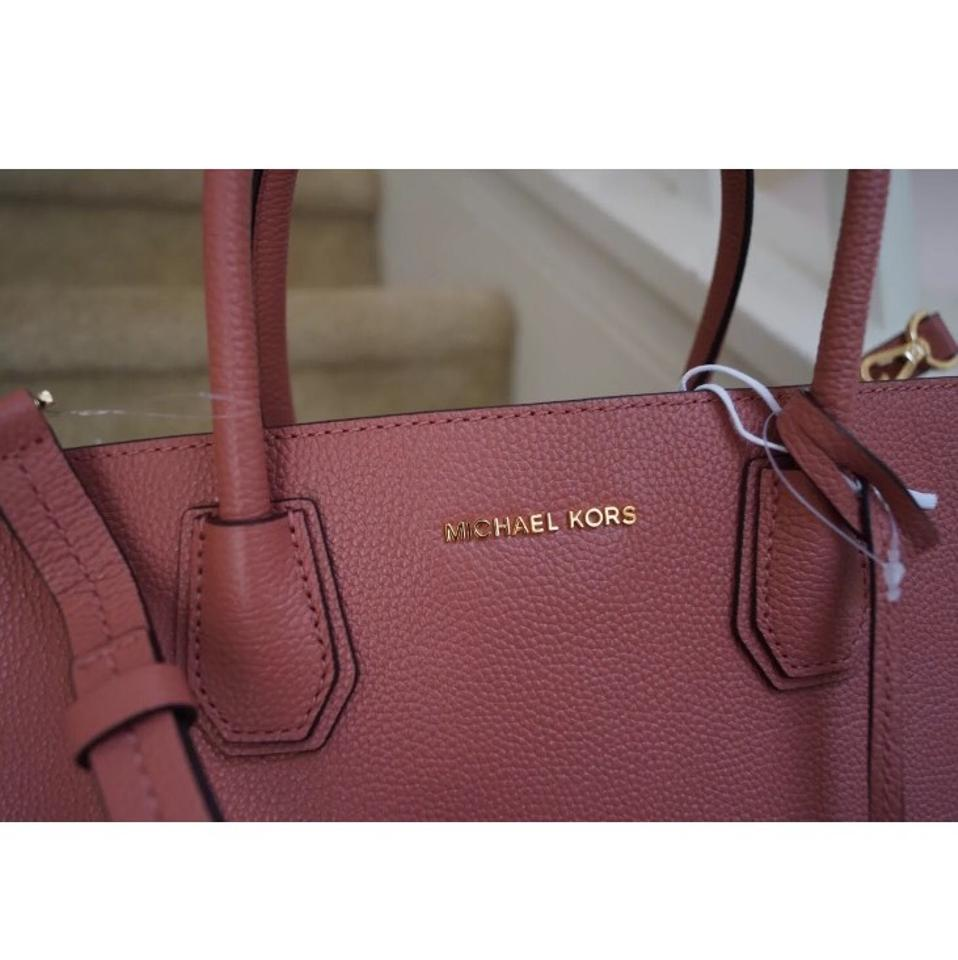 38e12083061c Michael Kors Mk Mercer Large Studio Convertable Antique Rose Leather ...