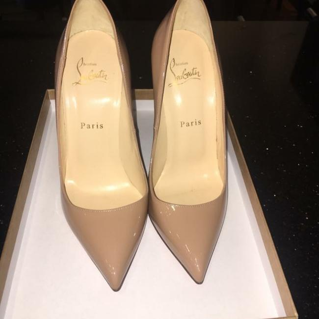 New Christian Louboutin Pigalle Follies 100mm Nude Beige