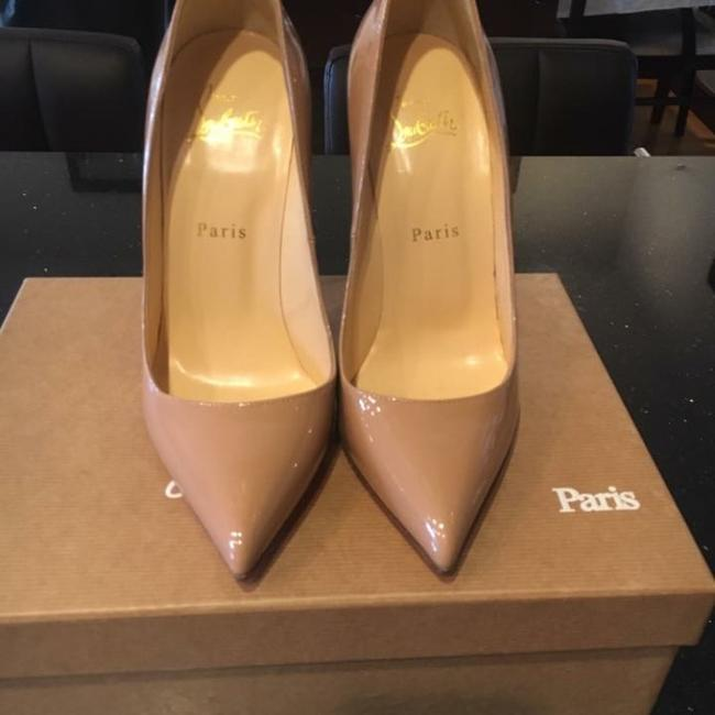 Christian Louboutin Nude Pigalle 120mm Patent Leather