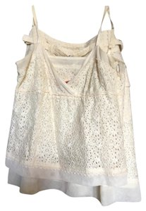 Cynthia Steffe short dress cream Eyelet Matching on Tradesy