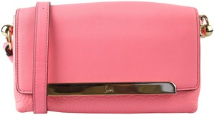 Christian Louboutin Leather Women Bags Crossbody Pink Clutch