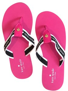 Kate Spade Pink, Black and White Sandals
