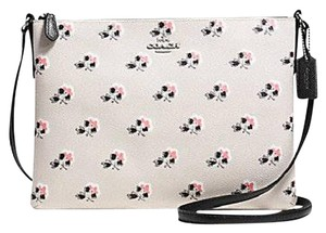 Coach Bramble Rose Multi Pockets Cross Body Bag
