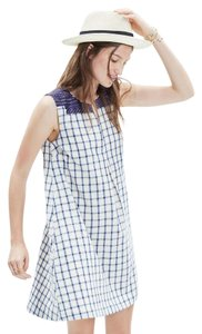 Madewell short dress Blue check on Tradesy