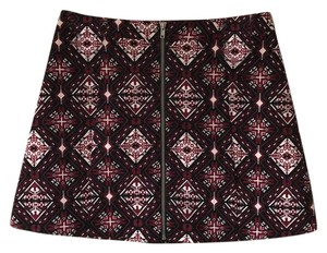 Divided by H&M Mini Skirt maroon, black, white