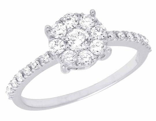 Preload https://img-static.tradesy.com/item/21210754/14k-white-gold-genuine-diamond-cluster-engagement-95-ct-ring-0-0-540-540.jpg