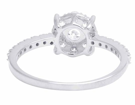 Jewelry Unlimited 14K White Gold Genuine Diamond Cluster Engagement Ring .95 CT Image 4