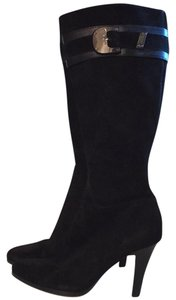 Cole Haan Black Seude Boots