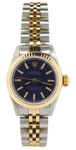 Rolex Ladies Rolex Two-Tone 18K/SS Oyster Perpetual Blue 67193