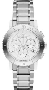 Burberry Burberry Ladies BU9700 The City Chronograph Silver Stainless Watch New