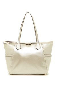 Cole Haan Gold Phone Compartments Tote in Soft Gold