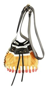 Moschino Bucket Women Patterned Leather Shoulder Bag