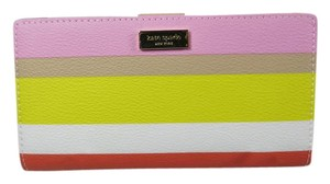 Kate Spade Eden Street Striped Multi Color Stacy Medium Wallet