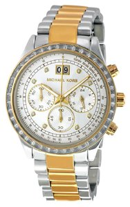 Michael Kors Michael Kors Ladies Watch MK6188 Brinkley Chronograph Two Tone New