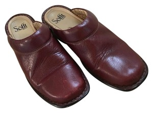 Söfft Color Leather Comfy Casual Wine Mules