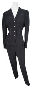 Moschino Moschino Couture Black Elegant Classic Pant Suit Size 10