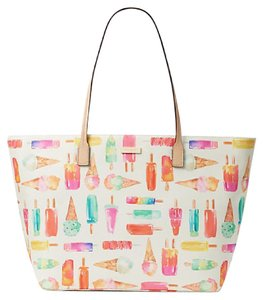 Kate Spade New With Tags Tote in Cream & Multi Color