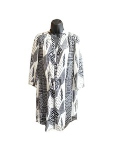 Diane von Furstenberg short dress Black , White Dvf Dvf Shirt Tribal Print on Tradesy