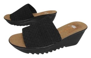 Bernie Mev Rubber Bottom New Without Box Platform Wedge Heel black Sandals