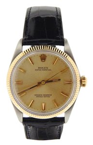 Rolex Mens Rolex Two-Tone 14K/SS Oyster Perpetual Champagne 1005