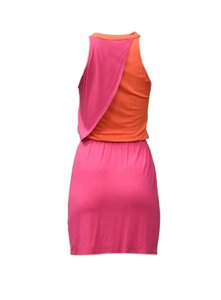 Envi short dress Pink/orange Stretch Waist Colorful on Tradesy