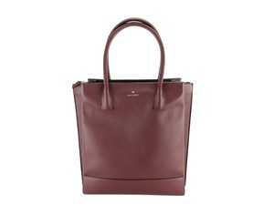 Mulberry Multi-compartment Leather Silver Hardware Tote in Red