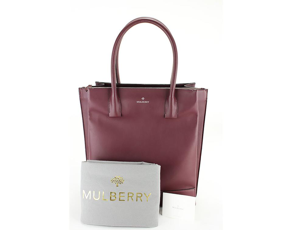 4f5626ab79b0 Mulberry Multi-compartment Leather Bags Silver Hardware Tote in Red. 1234567