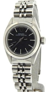 Rolex Ladies Rolex Stainless Steel Oyster Perpetual Black 6718