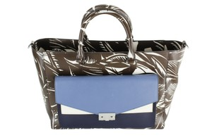 Tory Burch Travel Tote Patterned Leather Multi-Color Travel Bag